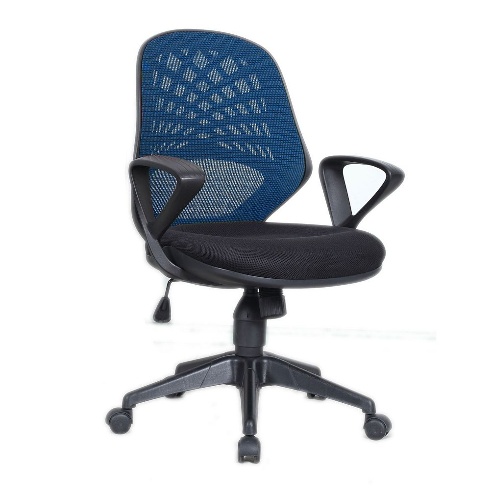 Lattice Chair Mesh Back, Task and Operator Chair Fixed Armrests. Red, Blue or Black Backrest